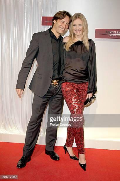 Designer Jette Joop and husband Christian Elsen attend the Bertelsmann Party 2008 at 'Bertelsmann Unter den Linden 1' on September 25, 2008 in...