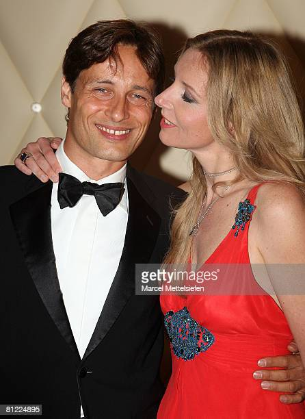 Designer Jette Joop and husband Christian Elsen attend the Rosenball Charity Ball at the Intercontinental Hotel May 24 2008 in Berlin Germany