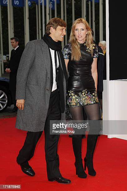 Designer Jette Joop and husband Christian Elsen In The IFA Opening Gala at the Palais am Funkturm in Berlin
