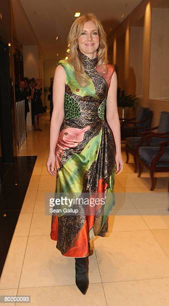 Designer Jette Joop attends the B'nai B'rith Europe Award of Merit at the Marriot hotel on March 11 2008 in Berlin Germany