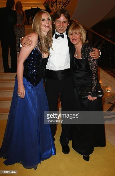 Designer Jette Joop , her husband Christian Elsen and friend Melanie Dummin attend the dreamball 2009 charity gala at the Ritz-Carlton on September...