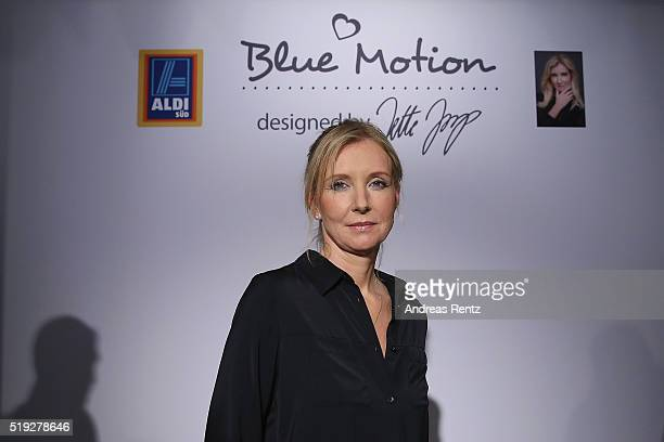 Designer Jette Joop poses at the ALDI SUED Blue Motion by Jette Joop fashion show on April 5 2016 in Duesseldorf Germany