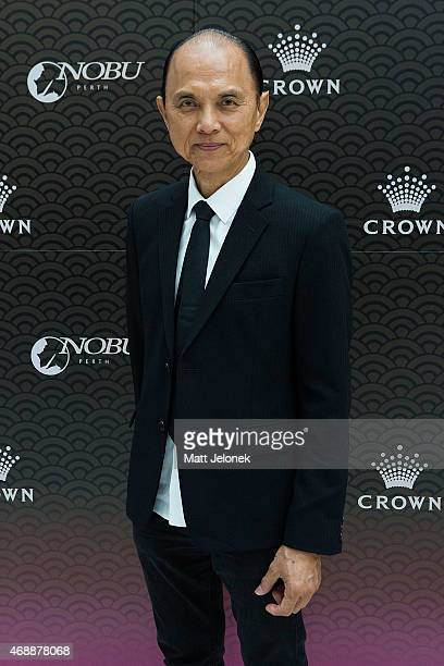 Designer Jimmy Choo attends the 'Dine With Professor Jimmy Choo' lunch at Nobu Perth at the Crown on April 8 2015 in Perth Australia