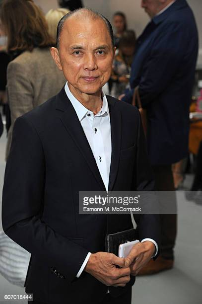 Designer Jimmy Choo attends the Jasper Conran show during London Fashion Week Spring/Summer collections 2017 on September 17, 2016 in London, United...