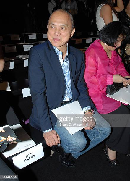 Designer Jimmy Choo attends the John Rocha catwalk show during London Fashion Week on February 20 2010 in London England