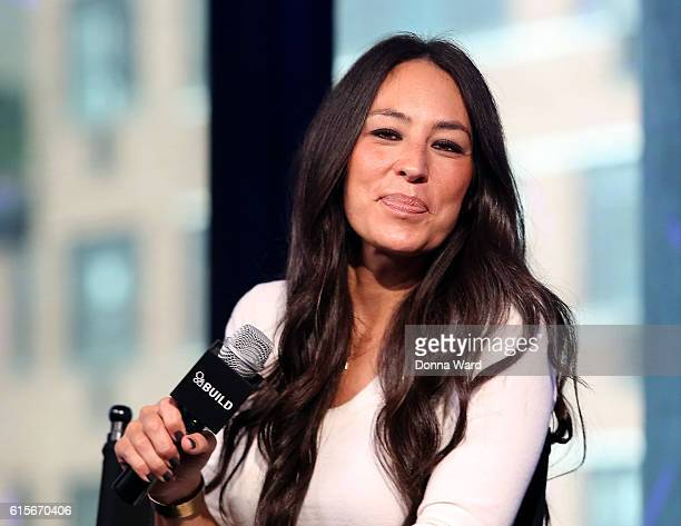 """Designer Joanna Gaines appear to promote """"The Magnolia Story"""" during the AOL BUILD Series at AOL HQ on October 19, 2016 in New York City."""