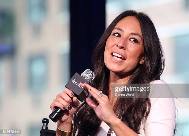 Designer Joanna Gaines appear to promote The Magnolia Story during the AOL BUILD Series at AOL HQ on October 19 2016 in New York City
