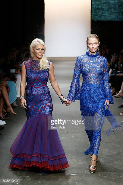Designer Jody Bell walks the runway during Jody Bell's show at Nolcha Shows New York Fashion Week Women's S/S 2017 at ArtBeam on September 12 2016 in...