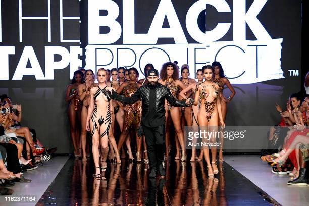 Designer Joel Alvarez walks the runway for BLACK TAPE PROJECT At Miami Swim Week Powered By Art Hearts Fashion Swim/Resort 2019/20 at Faena Forum on...