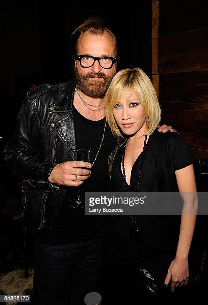 Designer Johan Lindeberg and singer Sun attend the after party for the William Rast Fall 2009 fashion show during MercedesBenz Fashion Week at the...