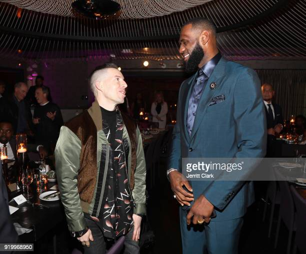 Designer John Elliot and Lebron James attend the Klutch Sports Group More Than A Game Dinner Presented by Remy Martin at Beauty Essex on February 17...