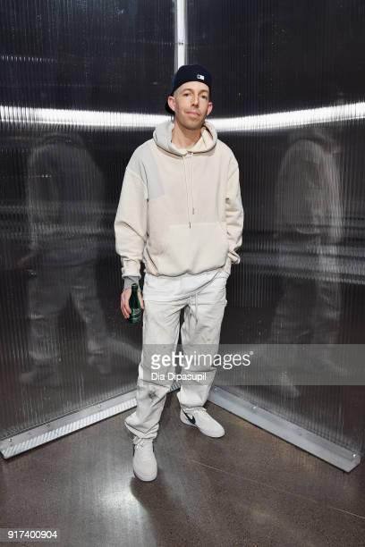 Designer John Elliott poses backstage at the John Elliott fashion show during New York Week: The Shows at Gallery II at Spring Studios on February...