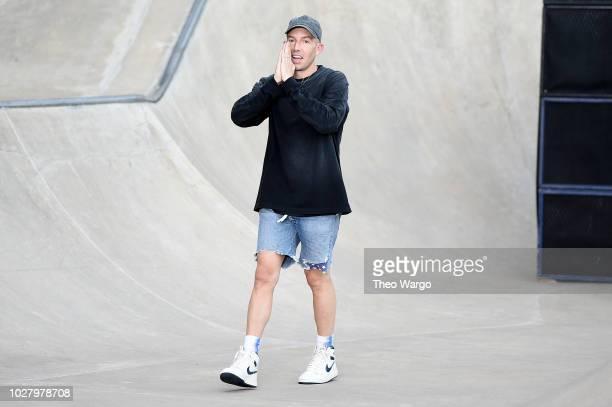 Designer John Elliott walks the runway for John Elliott during New York Fashion Week: The Shows on September 6, 2018 in New York City.