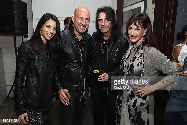 Designer John Varvatos Alice Cooper and Sheryl Goddard attend as Alice Cooper Shep Gordon and Shinola celebrate the release of Gordons Memoir They...