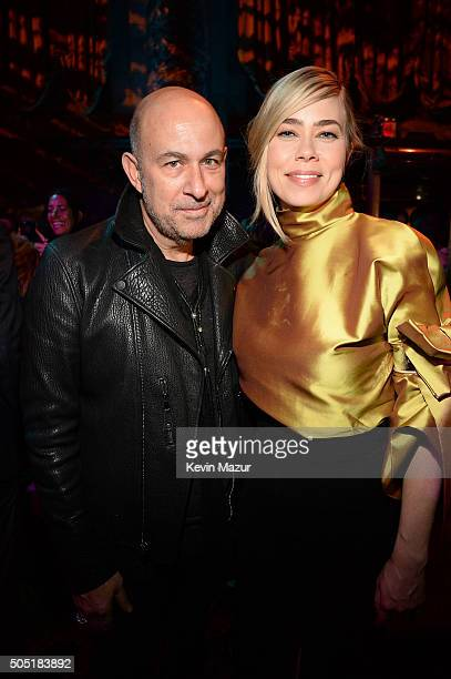 Designer John Varvatos and Birgitte Hjort Sorensen attend the after party of the New York premiere of 'Vinyl' at Ziegfeld Theatre on January 15 2016...