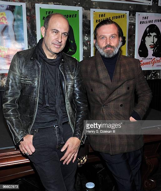 Designer John Varvatos and Fashion Editor for L'Uomo Vogue Robert Rabensteiner attend a fashion week party hosted by John Varvatos and L'Uomo Vogue...