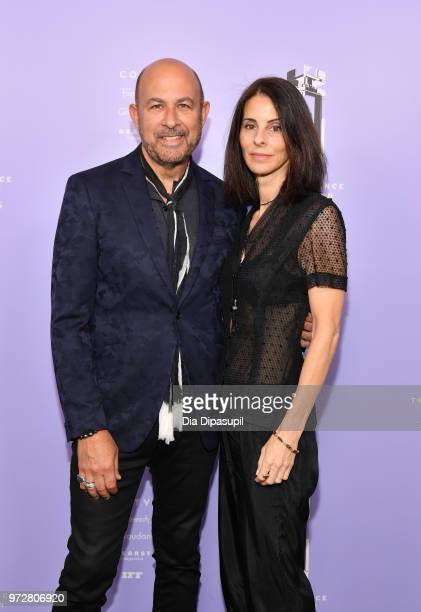 Designer John Varvatos and Joyce Zybelberg Varvatos attend 2018 Fragrance Foundation Awards at Alice Tully Hall at Lincoln Center on June 12 2018 in...