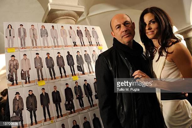 Designer John Varvatos and wife Joyce Varvatos attend backstage prior to the John Varvatos fashion show as part of Milan Fashion Week Menswear...