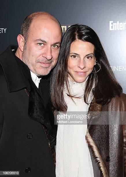 Designer John Varvatos and wife Joyce Varvatos attend the Cinema Society screening of The Wrestler at the Tribeca Grand Screening Room on December 8...
