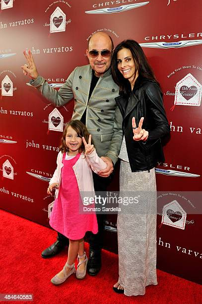 Designer John Varvatos daughter Thea Varvatos and wife Joyce Varvatos arrive at the John Varvatos 11th Annual Stuart House Benefit at John Varvatos...