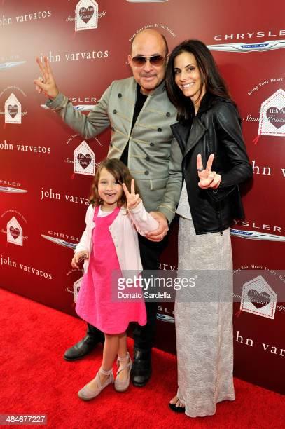 Designer John Varvatos daughter Thea Varvatos and wife Joyce Varvatos arrive at the John Varvatos 11th Annual Stuart House Benefit presented by...
