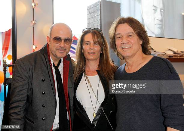 Designer John Varvatos Janie Liszewski and guitarist Eddie Van Halen attend the John Varvatos 10th Annual Stuart House Benefit presented by Chrysler...