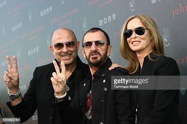 Designer John Varvatos, musician Ringo Starr and Barbara Bach attend John Varvatos' International Day of Peace Celebration held at John Varvatos on...