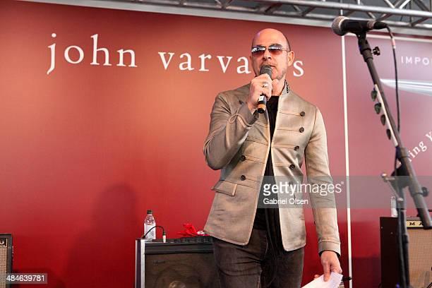 Designer John Varvatos onstage at the John Varvatos 11th Annual Stuart House Benefit at John Varvatos Boutique on April 13 2014 in West Hollywood...