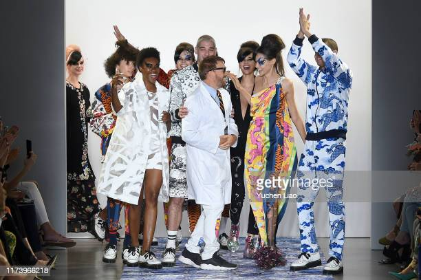 Designer Johnson Hartig and models walks the runway for Libertine during New York Fashion Week The Shows at Gallery II at Spring Studios on September...
