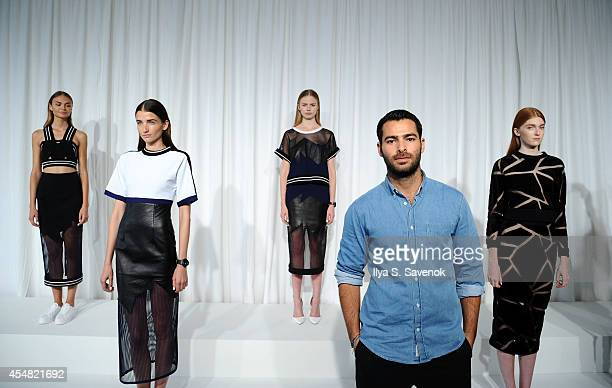 Designer Jonathan Simkhai poses at the Jonathan Simkhai fashion show during MADE Fashion Week Spring 2015 at Milk Studios on September 6 2014 in New...