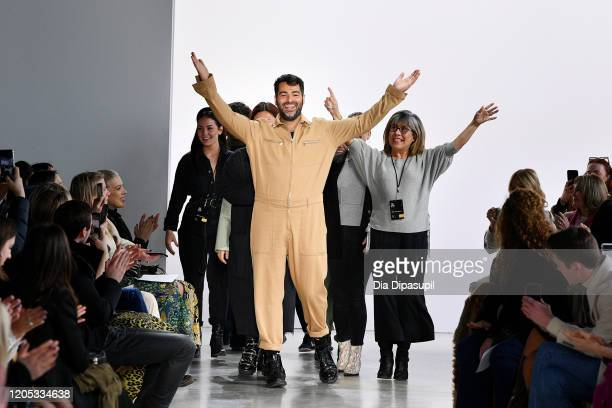 Designer Jonathan Simkhai walks the runway for his show during New York Fashion Week: The Shows at Gallery I at Spring Studios on February 10, 2020...