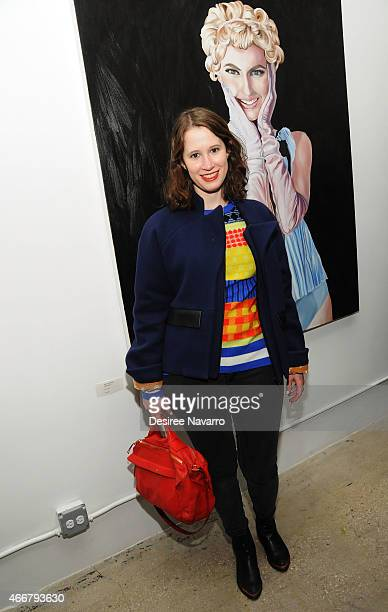 Designer Jordana Warmflash attends Tali Lennox Exhibition Opening Reception at Catherine Ahnell Gallery on March 18 2015 in New York City