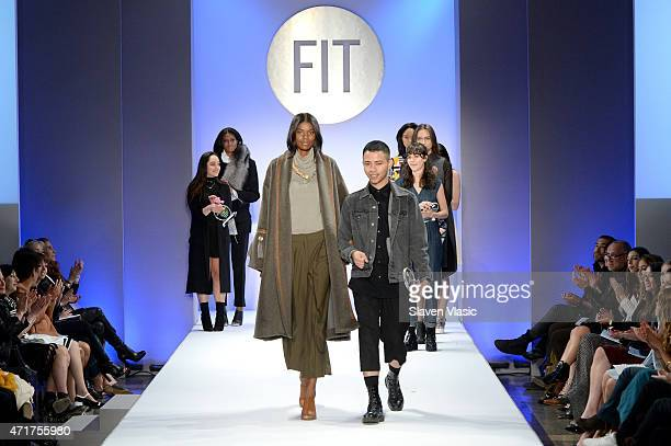 Designer Jose Camacho walks the runway at The Fashion Institute Of Technology's Future Of Fashion Runway Show hosted by Nicole Richie at The Fashion...