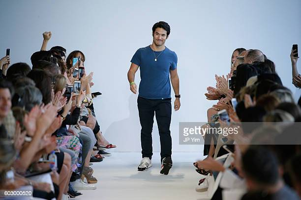 Designer Joseph Altuzarra walks the runway at the Kerastase Paris at Altuzarra S/S 2016 Show during New York Fashion Week at Spring Studios on...