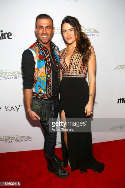 Designer Josh McKinley and model attend the Project Runway All Stars Season 3 premiere party presented by The Weinstein Company and Lifetime in...