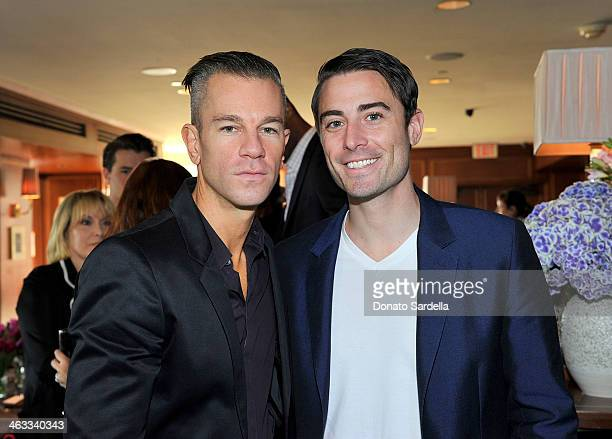 Designer Josh Reed and Nick Todisco attends Champagne Taittinger celebrate Men In Hollywood at Sunset Tower Hotel on January 17 2014 in West...