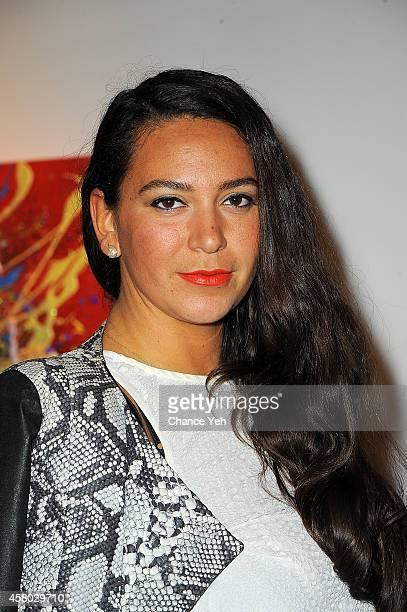 Designer Joy Cioci attends Aelita Andre Exhibit Opening Night at Gallery 151 on October 28 2014 in New York City