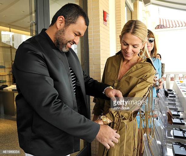 Designer Juan Carlos Obando and Crystal Lourd attend a luncheon with Juan Carlos Obando hosted by Crystal Lourd Katherine Ross and Barneys New York...