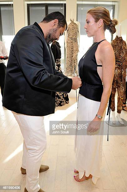 Designer Juan Carlos Obando and guests attend Juan Carlos Obando and his exclusive eveningwear collection hosted by Barneys New York at Barneys New...