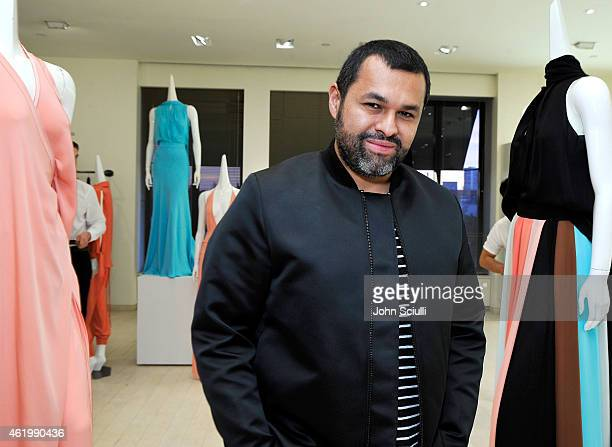Designer Juan Carlos Obando attends Juan Carlos Obando and his exclusive eveningwear collection hosted by Barneys New York at Barneys New York...