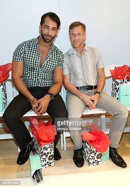 Designer Juan Colon and Rafael Mayoral attend the Designers' Preview fashion show during MercedesBenz Fashion Week Spring 2015 at Helen Mills Event...