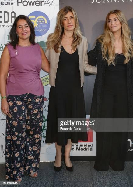 Designer Juana Martin and First Lady Begona Gomez are seen at the Juana Martin show during MercedesBenz Fashion Week Madrid Spring/summer 201819 at...