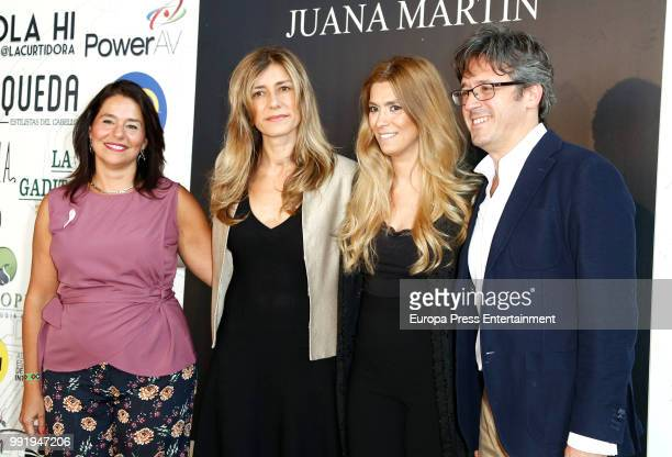 Designer Juana Martin and First Lady Begona Gomez attend Juana Martin charity show to raise funds for breast cancer during MercedesBenz Fashion Week...