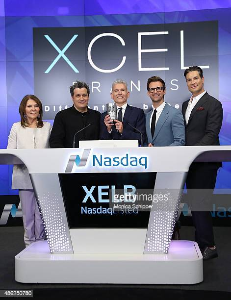 Designer Judith Ripka fashion designer Isaac Mizrahi chairman CEO at Xcel Brands Inc Robert D'Loren stylist and TV personality and creative director...