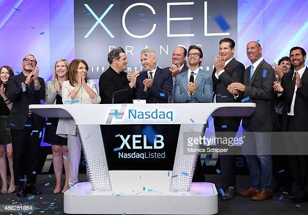 Designer Judith Ripka fashion designer Isaac Mizrahi chairman CEO at Xcel Brands Inc Robert D'Loren NASDAQ vice president David Wicks stylist and TV...