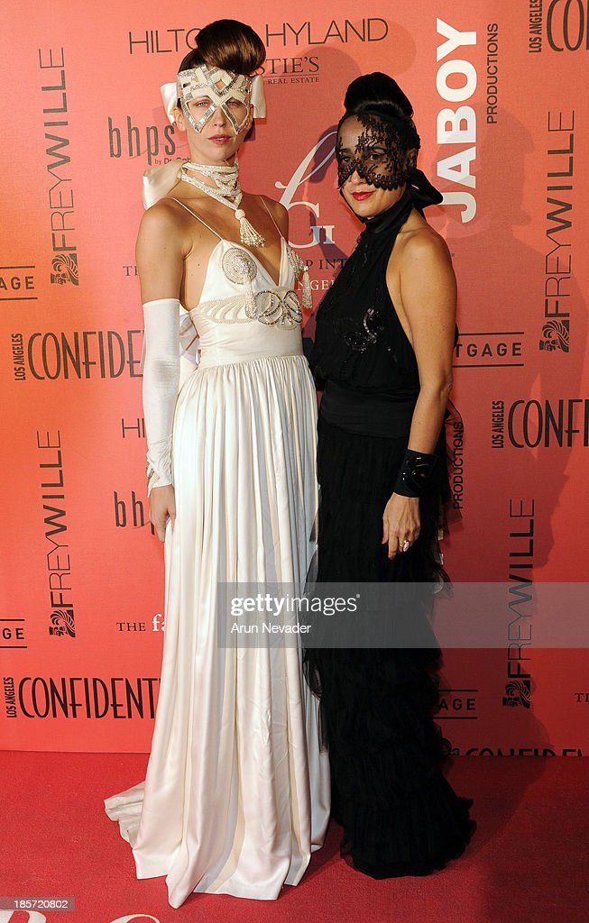 Designer Julia Clancey and her muse, actress Margo Stilley, arrive at 5th Annual Designer & The Muse Hosted By Kathy Hilton at Mr. C Beverly Hills on October 23, 2013 in Beverly Hills, California.