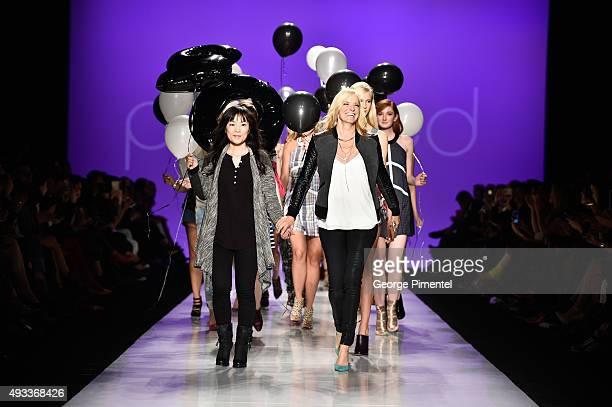 Designer Julia Grieve presents Preloved spring 2016 collection during World MasterCard Fashion Week Spring 2016 at David Pecaut Square on October...