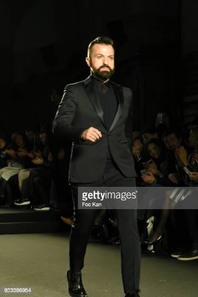Designer Julien Fournie walks the Runway during Julien Fournie : Runway as part of the Haute Couture Spring Summer 2018 show as part of Paris Fashion...