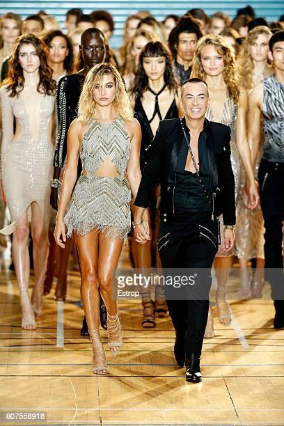 Designer Julien Macdonald walks the runway at the Julien Macdonald show during London Fashion Week Spring/Summer collections 2017 on September 17...
