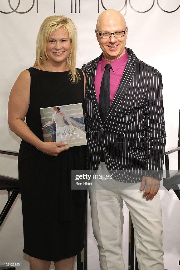 Designer Karen Busson and Cake Designer Ron Ben-Israel visit Bloomingdale's 59th Street Store on June 15, 2010 in New York City.